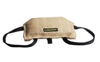 Кусалка-подушка из джутовой ткани